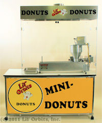 CE-Series mini donut concession stand with filtration hood and SS1200 mini donut machine