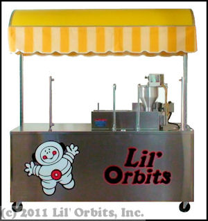 Lil' Orbits FSC-12DDF Vendor Cart for SS1200 Mini Donut Machine