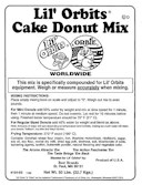 Lil' Orbits full line of high quality enriched mixes for mini donuts, funnel cakes, pancakes, crepes and corn dogs