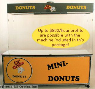 CE200 Cart with SS2401/2 Hood/Plex Combo and SS2400 Mini Donut Machine